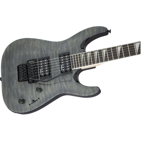 Image of Jackson JS Series Dinky Arch Top JS32Q DK, Amaranth Fingerboard - Transparent Black Guitars & Bass Jackson