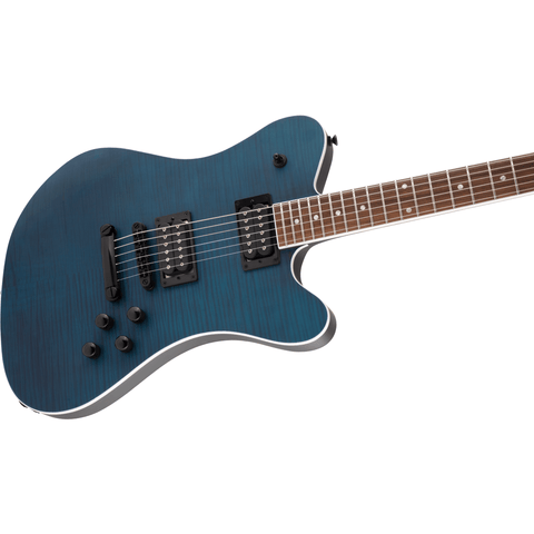 Image of Jackson X Series Signature Mark Morton Dominion DX2FM, Laurel Fingerboard - Satin Transparent Blue - Music 440