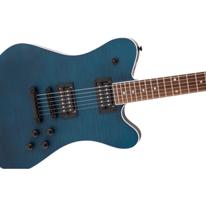 Jackson X Series Signature Mark Morton Dominion DX2FM, Laurel Fingerboard - Satin Transparent Blue - Music 440