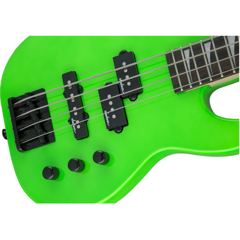 Image of Jackson JS Series Concert Bass Minion JS1X, Amaranth Fingerboard - Neon Green