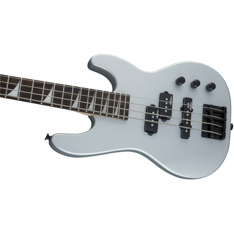 Image of Jackson JS Series Concert Bass Minion JS1X, Amaranth Fingerboard - Satin Silver - Music 440