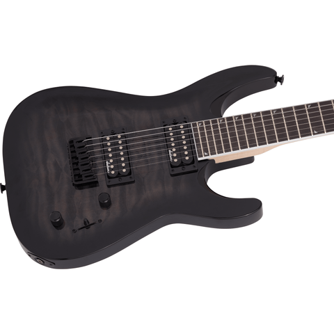 Image of Jackson JS Series Dinky Arch Top JS32Q DKA HT, Amaranth Fingerboard - Transparent Black Burst - Music 440