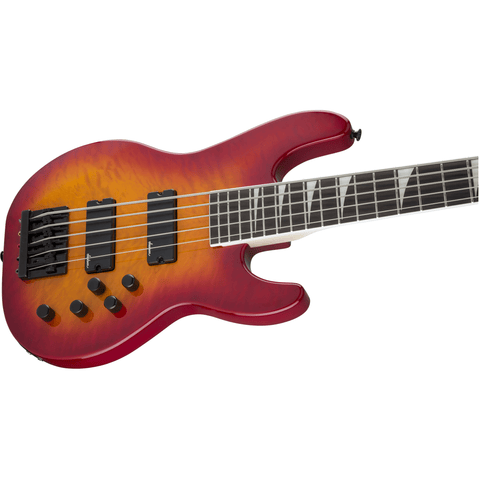Jackson JS Series Concert Bass JS3VQ, Amaranth Fingerboard, Cherry Burst - Music 440