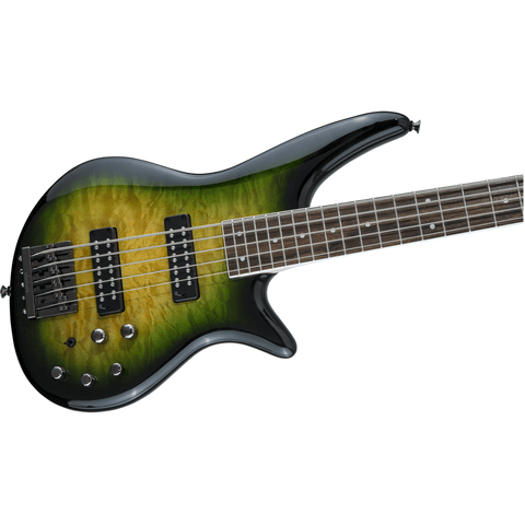 Jackson JS Series Spectra Bass JS3VQ, Laurel Fingerboard - Alien Burst - Music 440