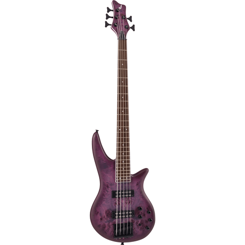 Jackson X Series Spectra Bass SBXP V, Laurel Fingerboard - Transparent Purple Burst - Music 440