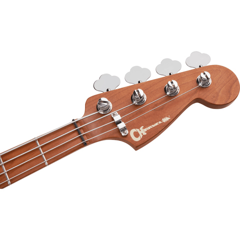 Charvel Pro-Mod San Dimas Bass PJ IV, Caramelized Maple Fingerboard - Lime Green Metallic - Music 440