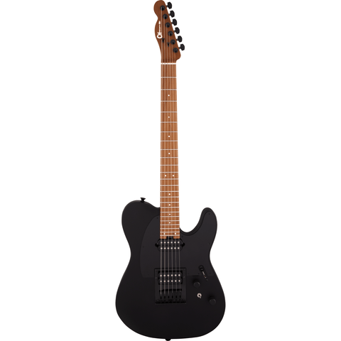 Charvel Pro-Mod So-Cal Style 2 24 HH HT CM, Caramelized Maple Fingerboard, Satin Black - Music 440