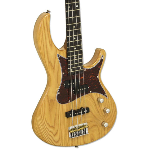 Image of Aria 313MK2 Detroit Series Bass Guitar - Open-Pore Natural Finish - Music 440
