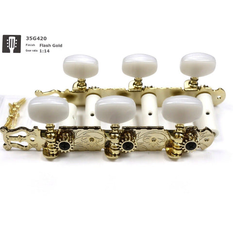 Image of Gotoh 35G420 Gold Classical Machine Heads - Music 440