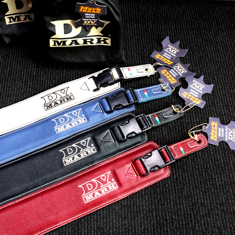 DV Mark Soft Leather Clip Lock Guitar Straps - Various Colours
