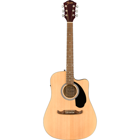 Image of Fender FA-125CE Dreadnought, Walnut Fingerboard - Natural - Music 440