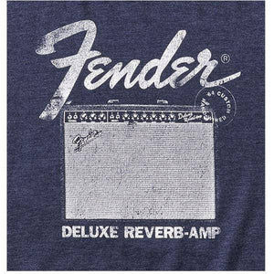 Fender Deluxe Reverb T-Shirt, Blue, M - Music 440
