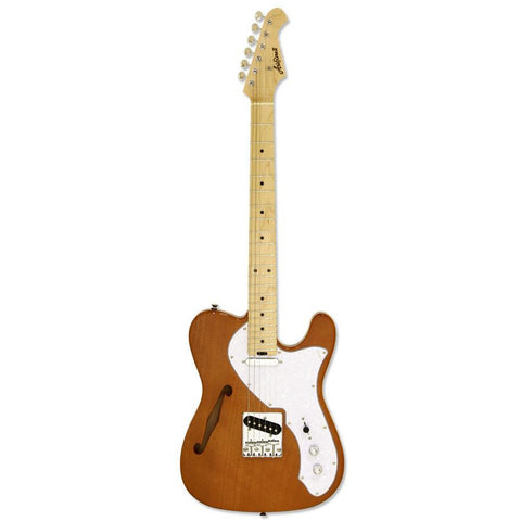 Image of Aria 615-TL Series Semi-Hollow Electric Guitar - Natural Gloss - Music 440