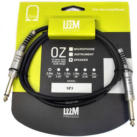 "Image of Leem 3ft Speaker Cable (1/4"" Straight TS - 1/4"" Straight TS) - Music 440"