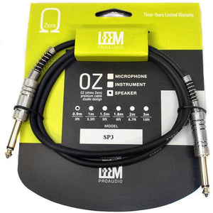 "Leem 3ft Speaker Cable (1/4"" Straight TS - 1/4"" Straight TS) - Music 440"