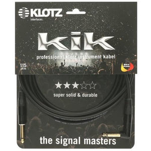 Klotz KIKKG30PRSW 3m Instrument Cable w/Gold Tips & Right Angled Jack - Music 440