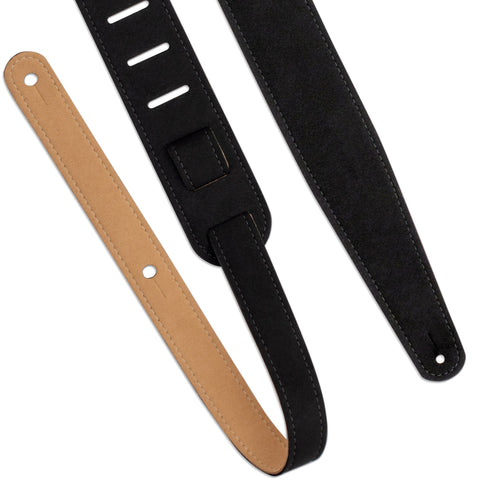 LM LMX377 Vegan Guitar Strap - Black - Music 440