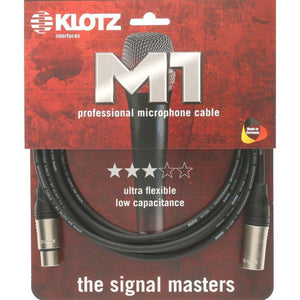 Klotz M1 Microphone Cable, 5m, XLR Male to Female - Music 440