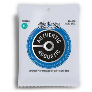Martin & Co. Authentic Acoustic SP Silk & Steel Guitar Strings - 11.5-47 - Music 440