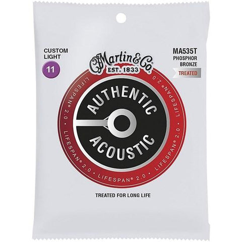 Image of Martin & Co. Authentic Acoustic Lifespan 2.0 Strings - Various Gauges - Music 440