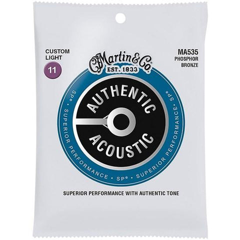 Image of Martin & Co. Authentic Acoustic SP Strings - Various Gauges - Music 440