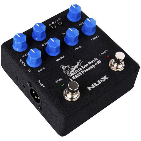 "Image of NU-X Verdugo Series ""Melvin Lee Davis"" Bass Preamp & DI Pedal w/IR Loader & Audio Interface - Music 440"