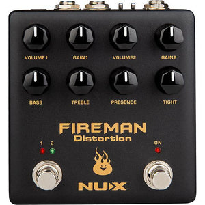 NU-X Verdugo Series Fireman Dual Channel Distortion Pedal - Music 440