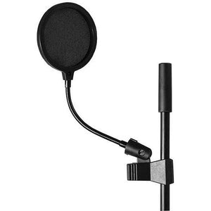 "On Stage Pop Blocker, 4"" w/Gooseneck & Clothespin-Style Shaft Clip - Music 440"