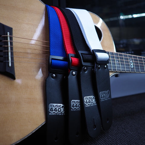Image of DSL Straps Poly Straps w/Music 440 Logo - Various Colours - Music 440