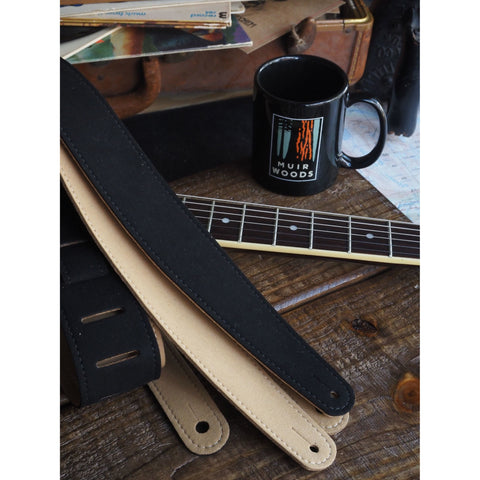 LM LMX377 Vegan Guitar Strap - Black