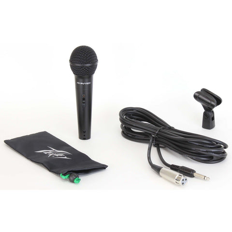 Image of Peavey PVi100 Dynamic Cardioid Microphone w/XLR-QTR Cable - Black - Music 440