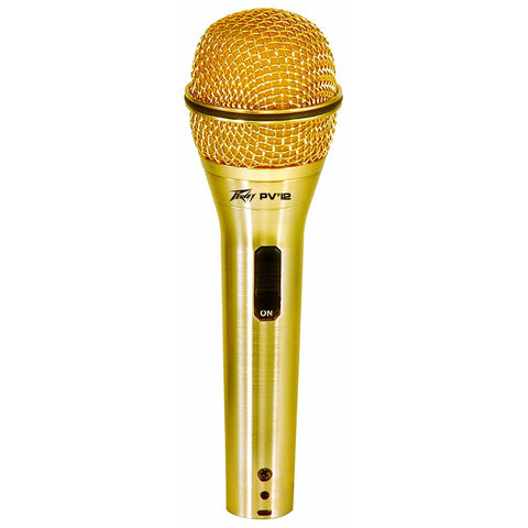 Image of Peavey PVi2 Dynamic Cardioid Microphone w/XLR-XLR Cable - Gold - Music 440