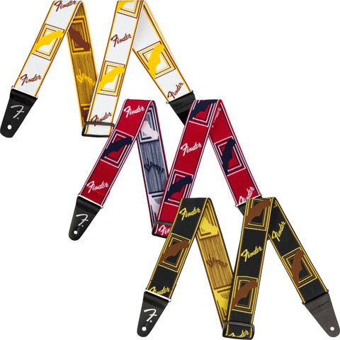 "Fender Weighless 2"" Monogrammed Strap - Various Colours - Music 440"