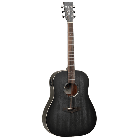 Tanglewood TWBBSDE Blackbird Sloped Shoulder Dreadnought A/E - Smokestack Satin - Music 440