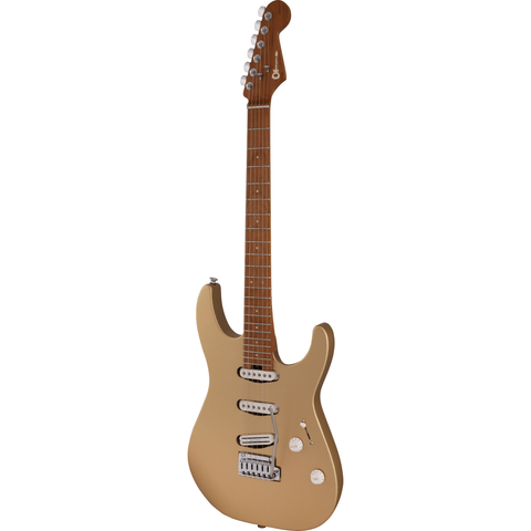 Image of Charvel Pro-Mod DK22 SSS 2PT, Caramalized Maple Fingerboard - Pharaoh's Gold - Music 440