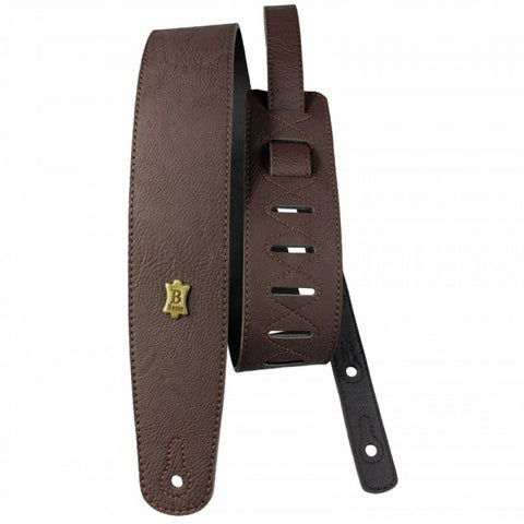 Image of Basso Vegan Leather Guitar Strap ECO-2 - Brown - Music 440