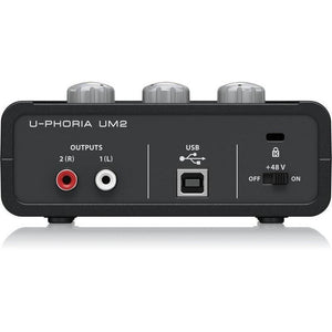 Behringer U-Phoria UM2 2x2 USB Audio Interface - Music 440