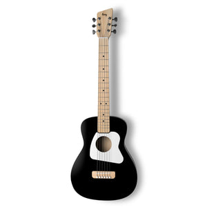 Loog Pro VI Acoustic Guitar w/ Chord Diagram Flash Cards - Black - Music 440