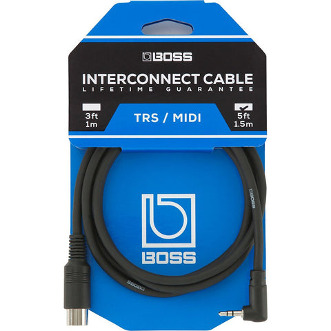 Image of BOSS BMIDI-5-35 5-Pin Midi to TRS Cable - 5ft. - Music 440