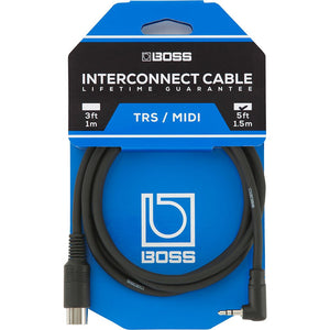 BOSS BMIDI-5-35 5-Pin Midi to TRS Cable - 5ft. - Music 440