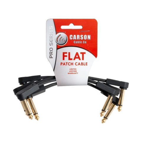 Carson Pro Series 6 Inch Flat Patch Cable 4 Pack - Music 440