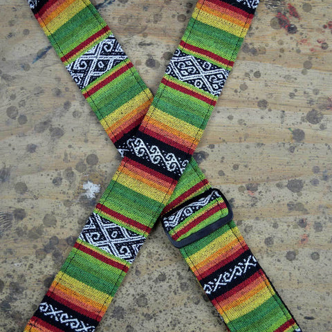 Image of Colonial Leather Rasta Rag Strap - Lime - Music 440