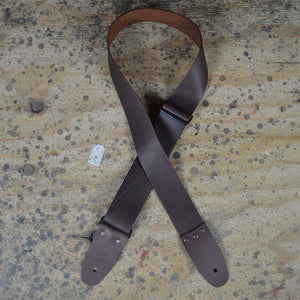 "Colonial Leather Soft Slide Adjustable Leather 2"" Strap - Brown - Music 440"