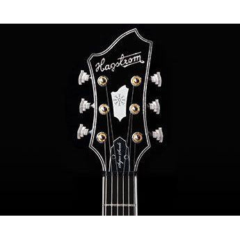 Image of Hagstrom Super Swede LTD, Swedish Made Guitar w/Hardcase - Cosmic Black Burst - Music 440