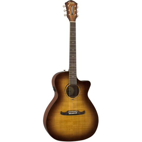 Image of Fender FA-345CE Auditorium, Laurel Fingerboard - 3-Tone Tea Burst