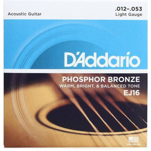 D'Addario Phosphor Bronze Acoustic Strings - Various Gauges - Music 440