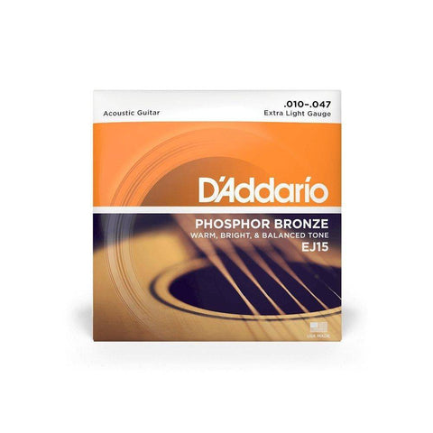 Image of D'Addario Phosphor Bronze Acoustic Strings - Various Gauges - Music 440