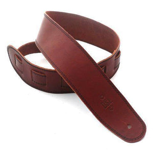 "DSL Straps 2.5"" Single Ply Maroon-Black Stitch - Music 440"