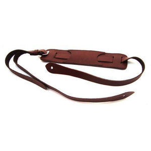 DSL Vintage Style Maroon Leather Guitar Strap - Music 440
