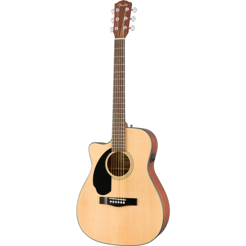 Image of Fender CC-60SCE Left-Handed Concert Guitar, Walnut Fingerboard - Natural - Music 440